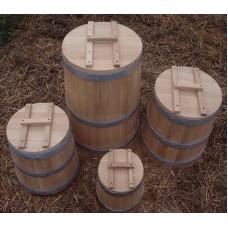 Кадка дубовая 10 л (комплектация: гнет, крышка)